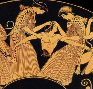 an analysis of the topic of dionysus and the bacchae After providing a summary of the content of euripides' bacchae, perris  the  play's opening lines, which introduce, inter alia, the theme of dionysus's identity.