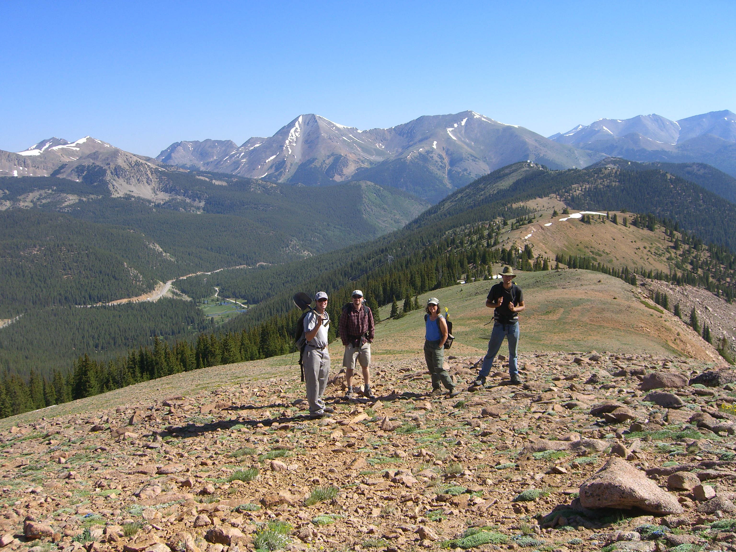 the crew at Monarch Pass (M. Losleben taking photo)