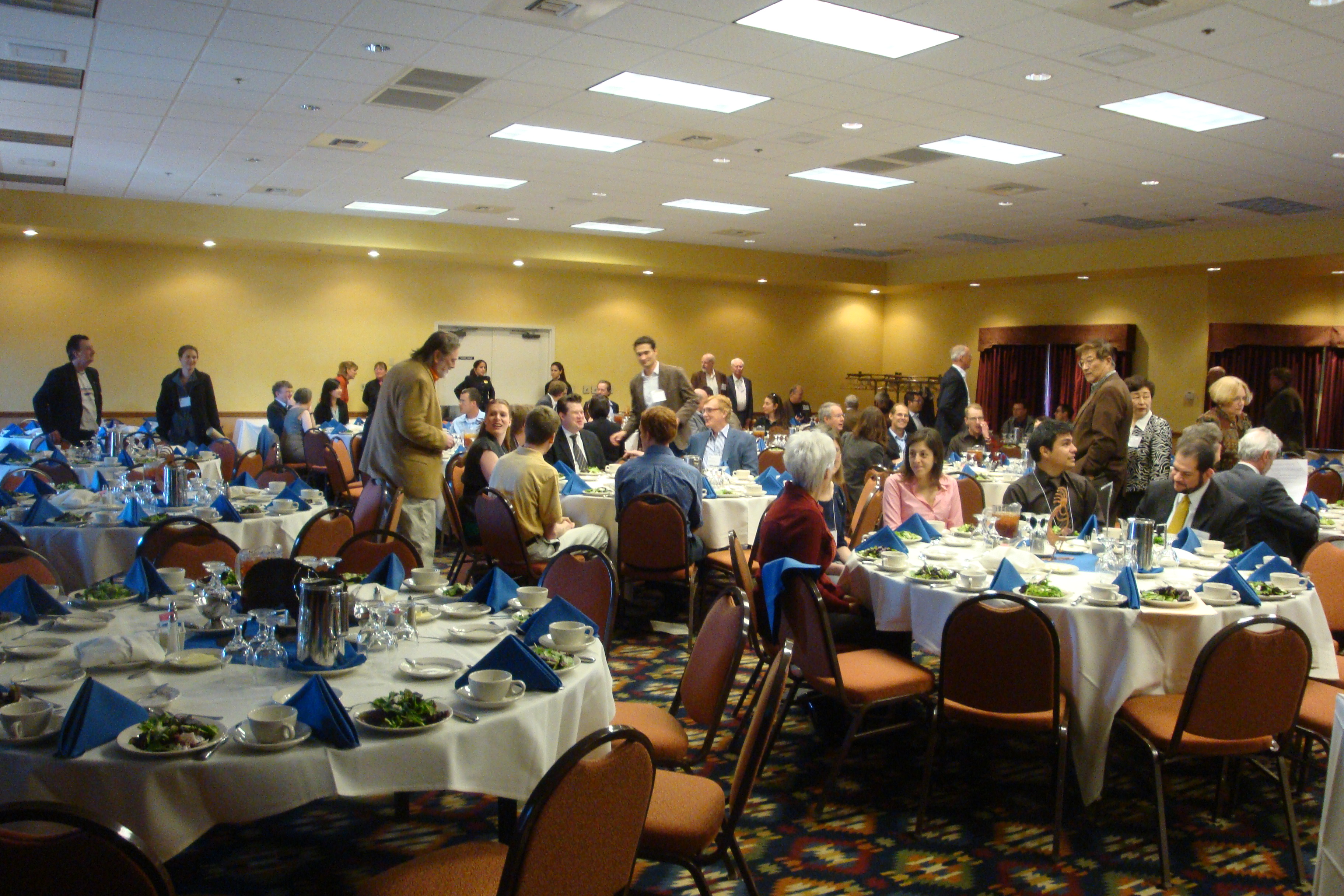 Participants arrive for Annual Banquet Luncheon