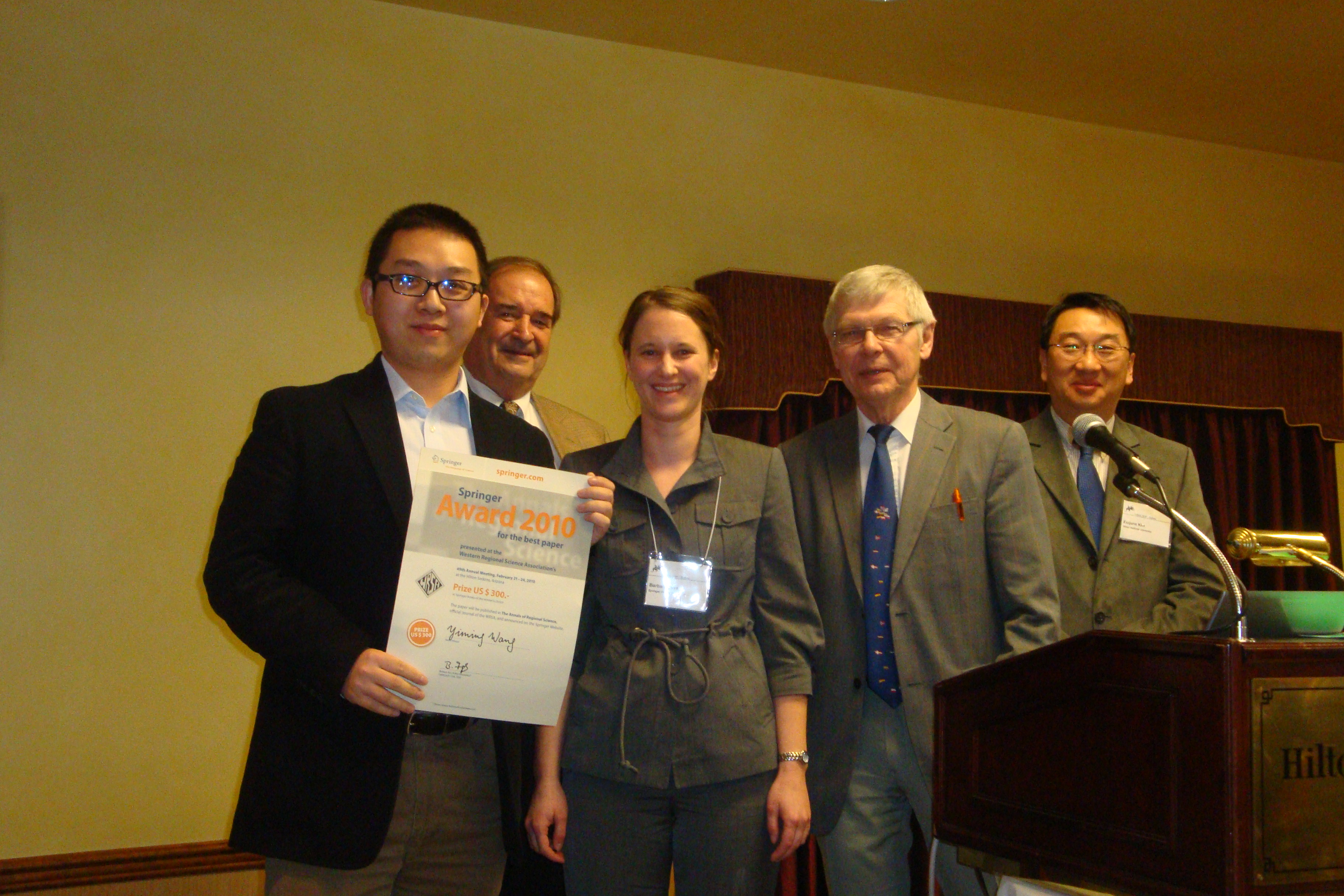 Springer Prize Ceremony: Yiming Wang and Editors