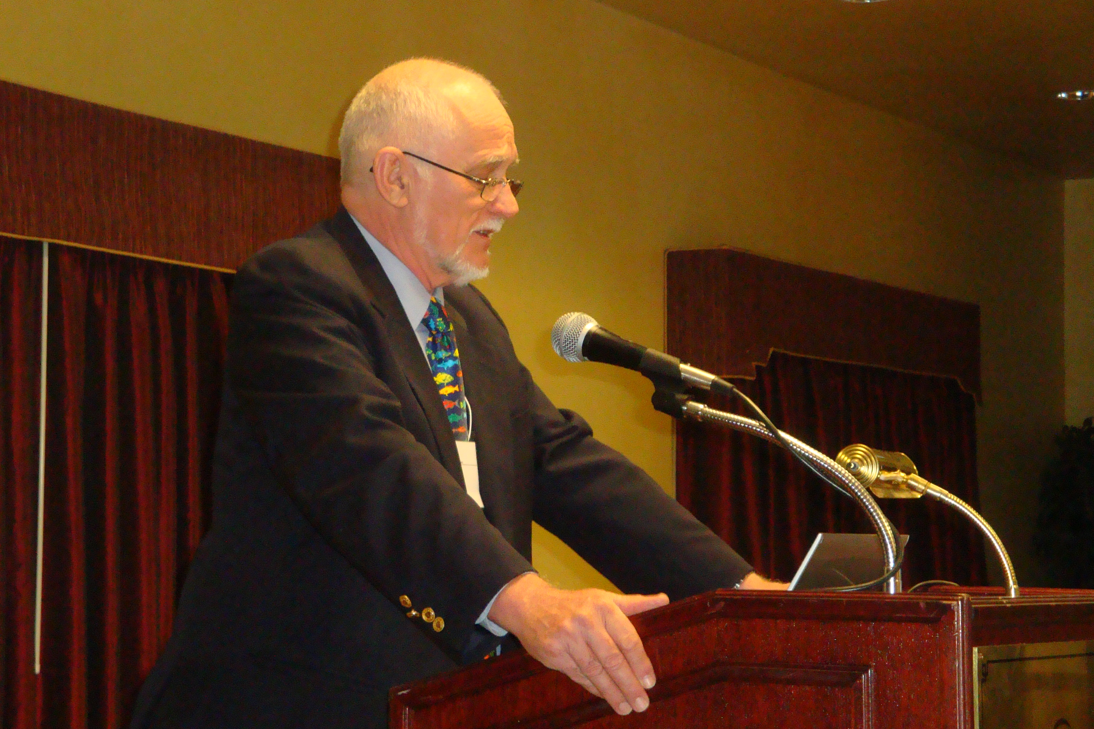 Bob Stimson delivers his Presidential Address