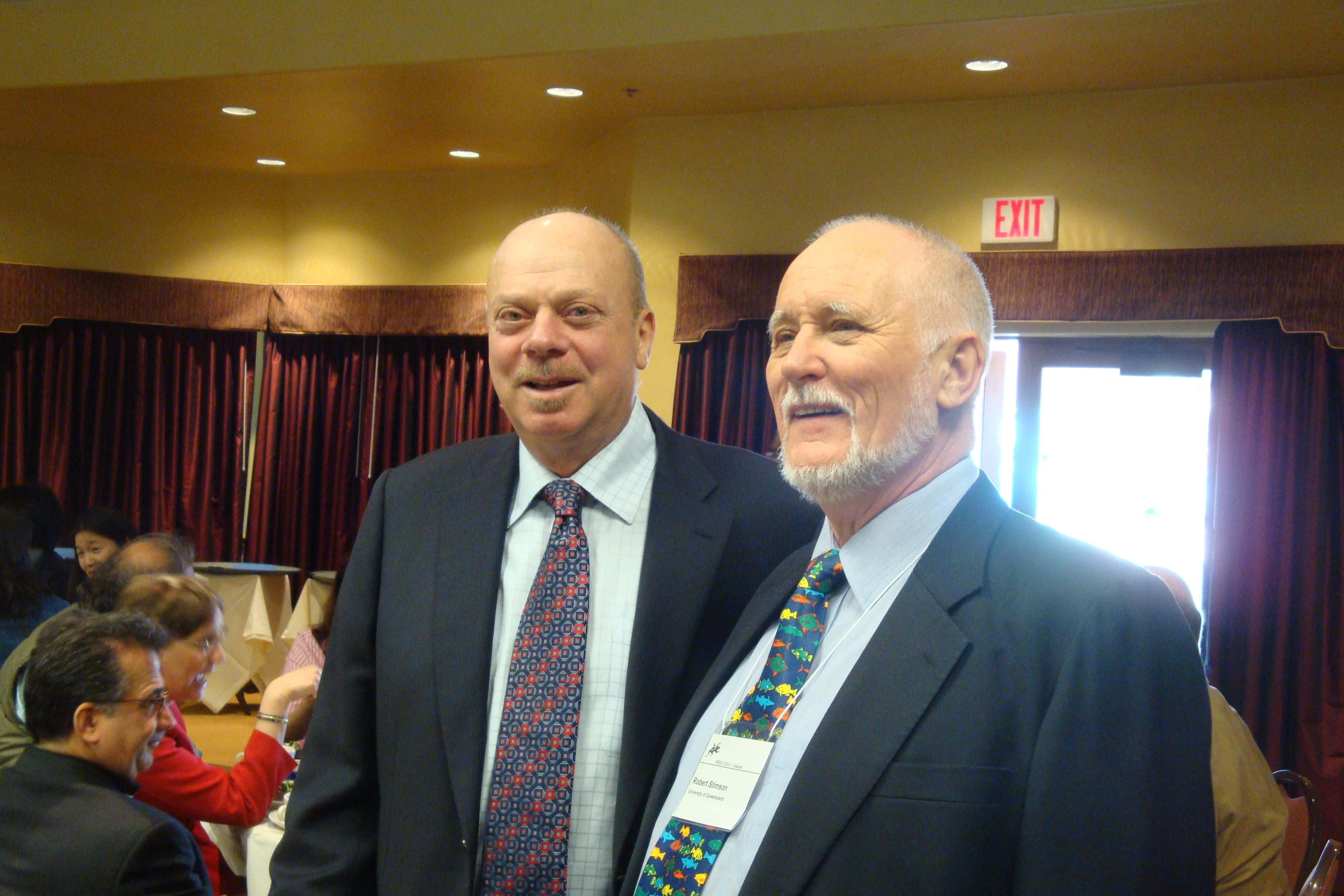 Warren Gill with Bob Stimson