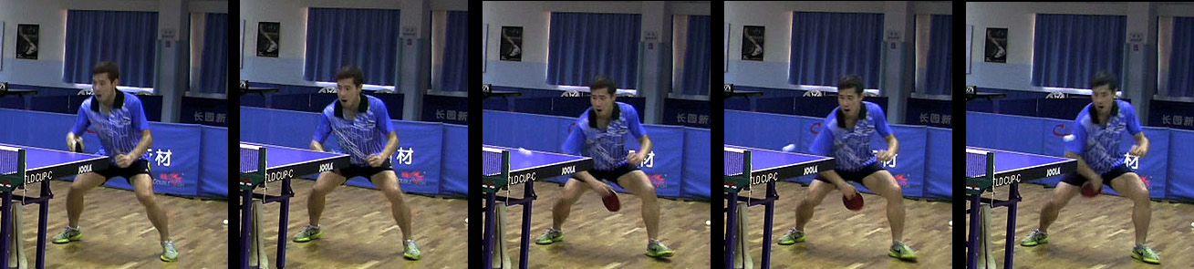 how to play backhand chop in table tennis